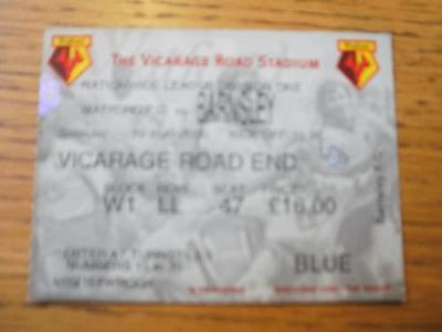 19/08/2000 Ticket: Watford v Barnsley  (Creased & Writi