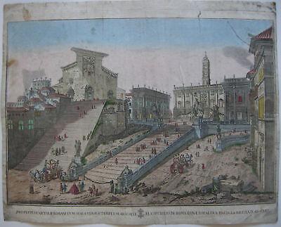 Guckkastenblatt Roma Kapitol 1780 Italia Kupferstich