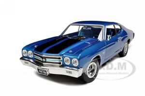 1970 CHEVROLET CHEVELLE SS 396 BLUE 1/18 1OF1000 MADE MODEL CAR AUTOWORLD AMM956
