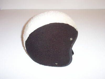 Vintage snowmobile motorcycle fur helmet Arctic Cat Yamaha Harley chopper bobber