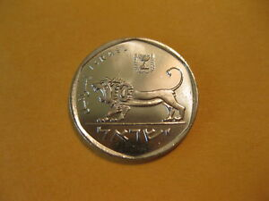 1980 Israel coin  1/2  Sheqel,   LION  unc Beauty, a very nice coin