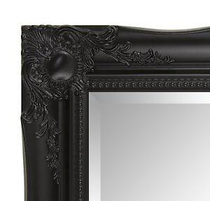 Large black framed mirror ebay for Large black framed mirror