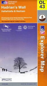 Hadrians Wall - Ol 43 - Explorer - Ordnance Survey Map