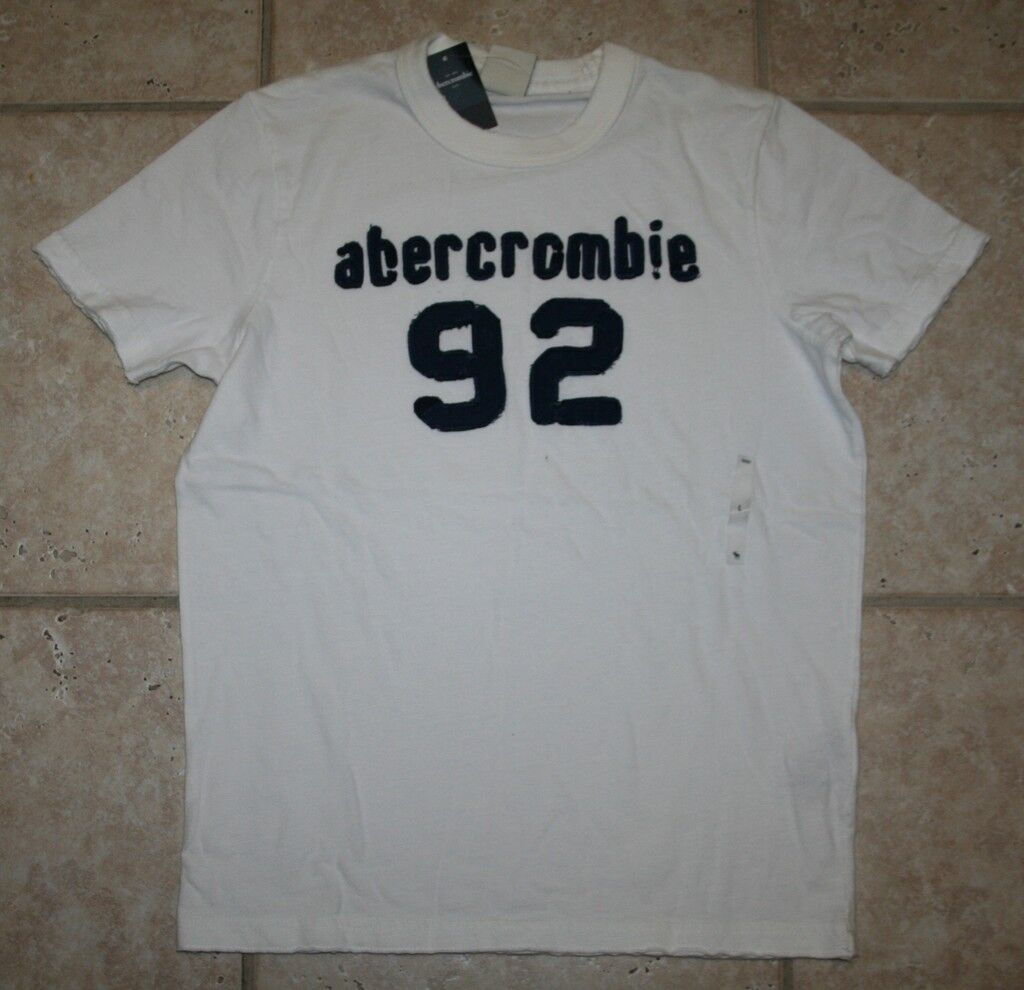 Abercrombie Boys Small Ss Muscle Fit White 92 T-shirt