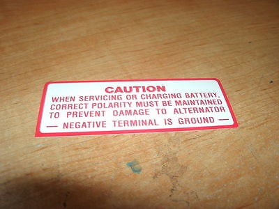 1965 Amc Rambler Classic Battery Warning Caution Decal