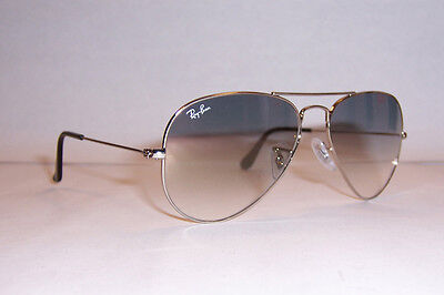 Ray Ban Aviator Sunglasses 3025 003/32 Silver/gray 55mm Authentic