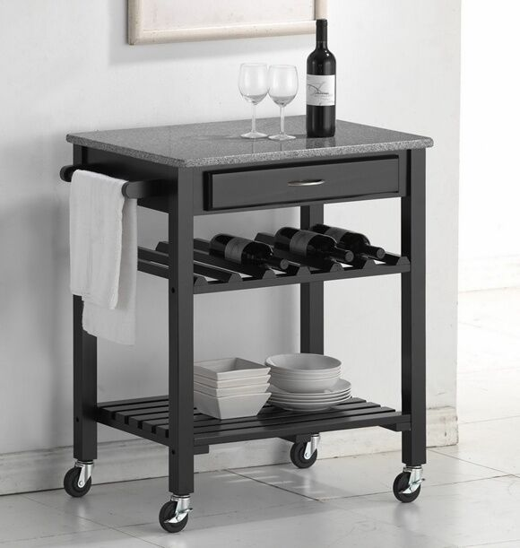 your guide to buying a kitchen cart with a wine bottle rack ebay. Black Bedroom Furniture Sets. Home Design Ideas