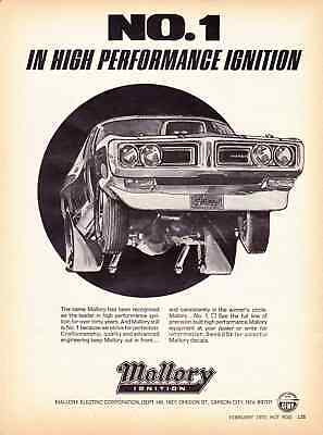 1972 DODGE CHARGER DRAG RACING  ~  ORIGINAL MALLORY AD