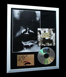 SIMPLE MINDS+SIGNED+FRAMED+ONCE UPON TIME=100% AUTHENTIC+EXPRESS GLOBAL SHIPPING