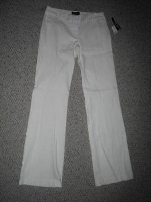 A Byer Junior Womens Size 7 Stretch White Summer Pants/slacks Nwt$$$