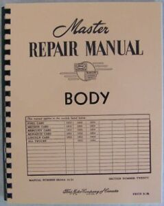 1952-1953-1954-Ford-Mercury-Lincoln-Body-Repair-Manual