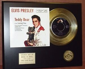 Elvis-Presley-Teddy-Bear-24k-Gold-Record-Limited-Edition