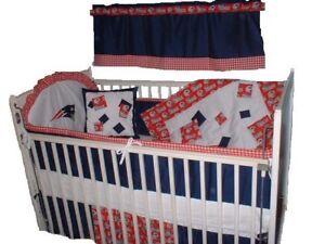 Baby Nursery Crib Bedding Set New England Patriots NFL ...