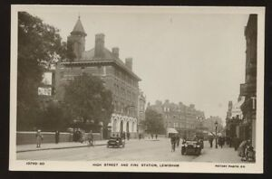 London-LEWISHAM-Fire-Station-High-St-RP-PPC-1920s