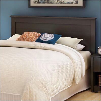 dark brown headboard for full double size bed frame modern espresso wood wooden. Black Bedroom Furniture Sets. Home Design Ideas