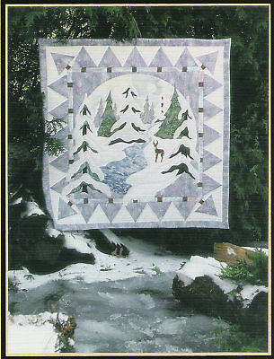 January Thaw applique quilt pattern by Pine Meadows