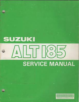1984-91 Suzuki Atv 3 Wheeler Alt 185 Service Manual
