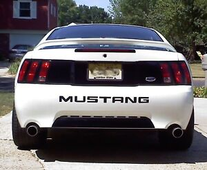 99-04 MUSTANG REAR DECK LID TRUNK BLACKOUT DECAL