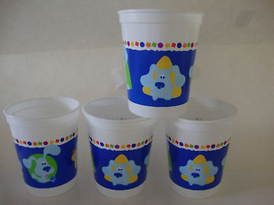 Blues Clues 17 Oz Plastic Stadium Cups -- Lot Of 4