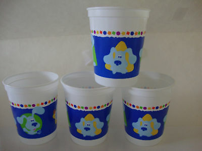 Blues Clues 17 Oz Plastic Stadium Cups -- Lot Of 4