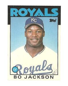1986 Topps Traded Bo Jackson Kansas City Royals 50t Baseball Card