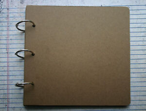 8 Pg Bare/Unfinished chipboard plain album 6 3/4