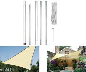 mat pour voile solaire 2 5m avec hauban taud plage jardin gssk1 perel montage ebay. Black Bedroom Furniture Sets. Home Design Ideas