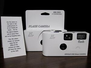 10-Classic-White-Disposable-Wedding-Cameras-Brand-New