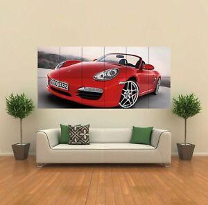 RED-PORSCHE-SPORTS-CAR-GIANT-WALL-ART-PRINT-POSTER-G421