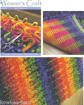 Weaver's Craft magazine #25: HOW TO WEAVE A RAG RUG rugs