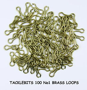 100 SIZE 1 NO 1 BRASS DO IT FISHING MOULD MOLD LOOPS EYES LEAD WEIGHT MAKING