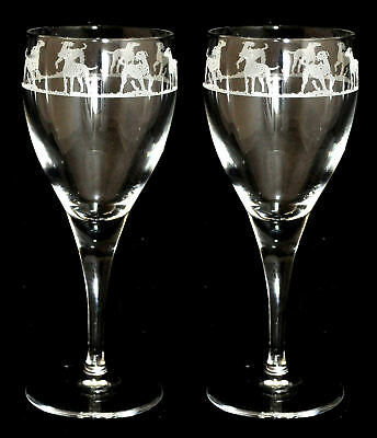 DALMATIAN OPEN FRIEZE - Boxed PAIR WINE GLASS *DOG GIFT*