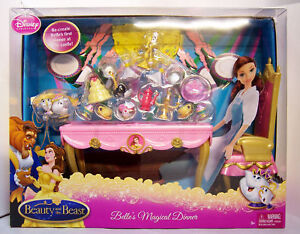 Disney-Beauty-the-Beast-Belles-Magical-Dinner-Playset-for-Belle-Barbie-Doll