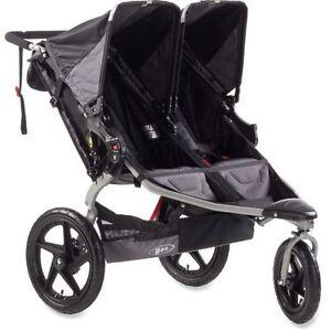 Bob-2012-Revolution-Duallie-Double-Stroller-Black-New-ST1043