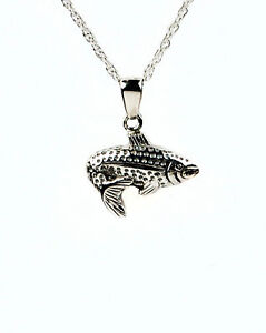Cremation unique fish necklace urn pendant jewelry ebay for Fish cremation jewelry