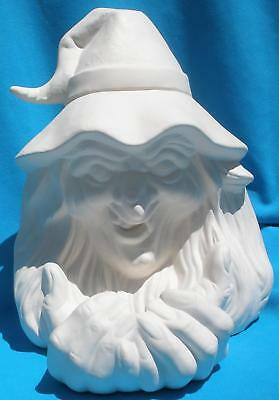 Witch Candle Holder Ceramic Bisque Halloween