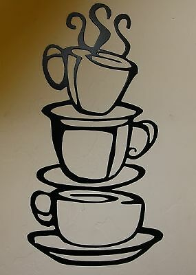 COFFEE CUPS Small Version Kitchen Home Decor Metal Wall Art Hanging EBay