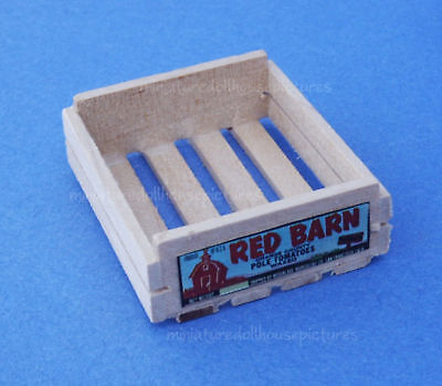 Miniature Dollhouse Doll House Wood Crate  on Rummage