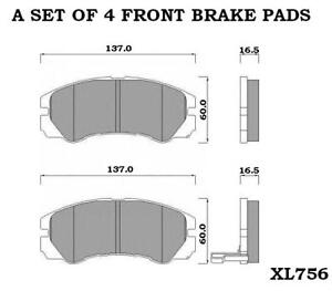 ISUZU TROOPER MK2 MK3 3.0 3.1 3.2 3.5 FRONT BRAKE PADS