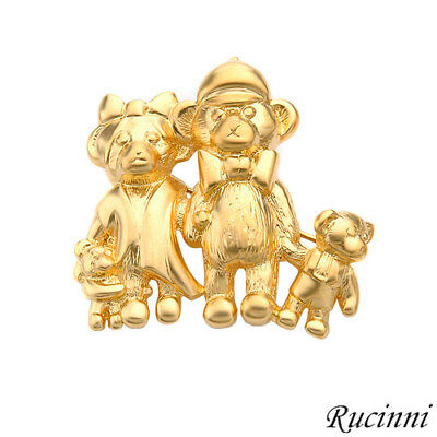 Rucinni Brand Brooch Crafted In Yellow Base Metal