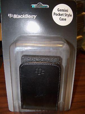 Authentic Blackberry Gemini Black Pocket Style Case Nip