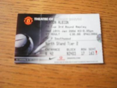 18/01/2006 Ticket: Manchester United v Burton Albion [F
