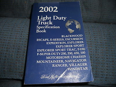 (2002 FORD F150 F250 350 EXPEDITION EXPLORER SPEC MANUAL)