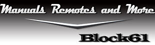 Manuals Remotes and More