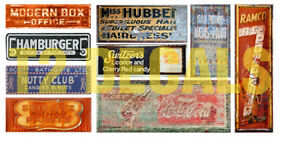 HO-Scale-Ghost-Sign-Decals-7-For-Structures-Buildings-Lot