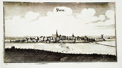 Werne Unna Nordrhein-Westfalen  Merian Kupferstich 1647