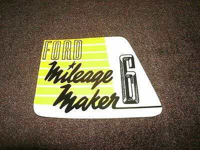 1952 Ford Car Line Mileage Maker 6 Valve Cover Decal