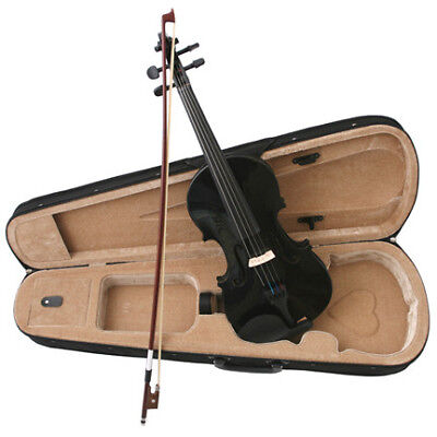NEW BLACK VIOLIN/FIDDLE ~FULL SIZE 4/4~W/ CASE & BOW  on Rummage