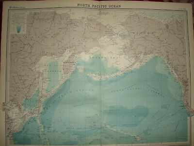 1920 LARGE MAP NORTH PACIFIC OCEAN ROUTES etc 23