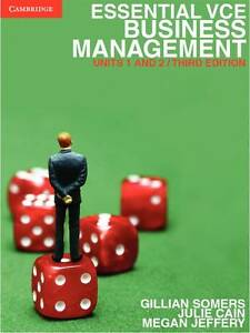 Essential VCE Business Management Units 1&2 by Megan Jeffery, Gillian Somers,...
